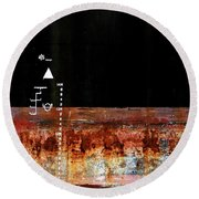 Rusted Layer Round Beach Towel
