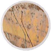Rustic Landscape Round Beach Towel