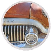 Rusty Abandoned Old Buick Eight Round Beach Towel