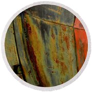 Rusty Abstract Round Beach Towel