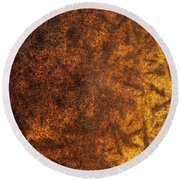 Rusty Background Round Beach Towel