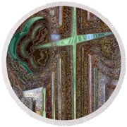 Rusty Cross Round Beach Towel
