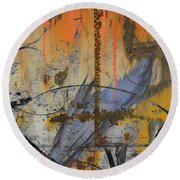 Rusty Crow  Round Beach Towel