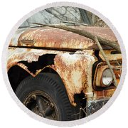 Rusty Ford Round Beach Towel