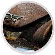 Rusty Impe Round Beach Towel by DigiArt Diaries by Vicky B Fuller