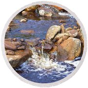 Rusty River Round Beach Towel