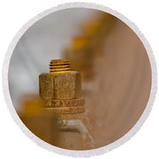 Rusty Screw Round Beach Towel