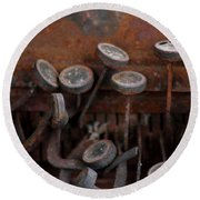 Rusty Typewriter Round Beach Towel