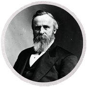 Rutherford B. Hayes, 19th American Round Beach Towel