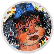 Ruthie Round Beach Towel by Mindy Newman