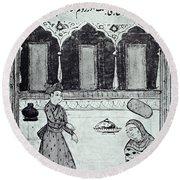 Saadi (c1184-1291) Round Beach Towel