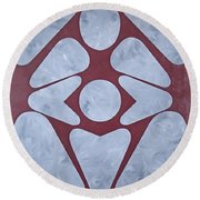 Sacred Heart Round Beach Towel
