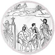 Sacrifice Of Iphigenia Round Beach Towel