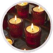 Sacrificial Candles Round Beach Towel