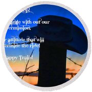 Saddle Up Round Beach Towel