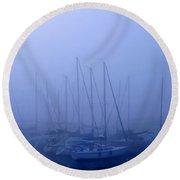 Sailboat Blues Round Beach Towel