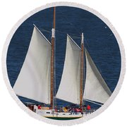 Sailboat In The San Francisco Bay . 7d7900 Round Beach Towel