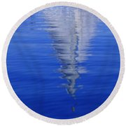 Sailboat On Water Round Beach Towel