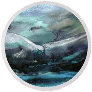Sailing Over The Sea Round Beach Towel