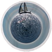 Sailing The World Round Beach Towel