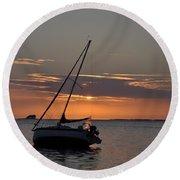 Sailor's Sunset Round Beach Towel