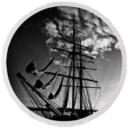 Sails In The Sunset Round Beach Towel