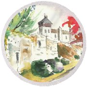 Saint Bertrand De Comminges 04 Round Beach Towel