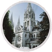 Saint Finbarres Cathedral, Cork City Round Beach Towel