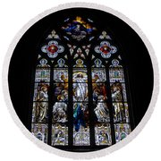 Saint Johns Stained Glass Round Beach Towel
