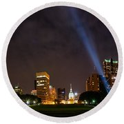 Saint Louis Lights Round Beach Towel