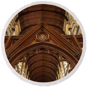 Saint Marys Church Interior 1 Round Beach Towel