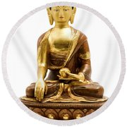 Sakyamuni Buddha Round Beach Towel
