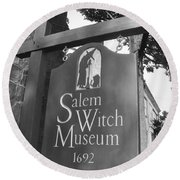 Salem Witch Museum Round Beach Towel