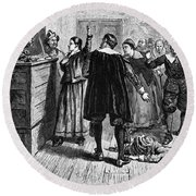 Salem Witch Trials, 1692-93 Round Beach Towel by Photo Researchers