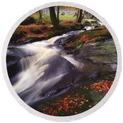 Sally Gap, County Wicklow, Ireland Round Beach Towel