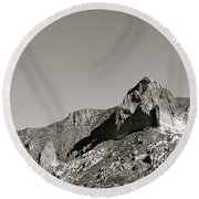 Salt River Black And White Round Beach Towel