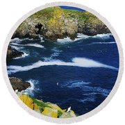 Saltee Islands, Co Wexford, Ireland Round Beach Towel