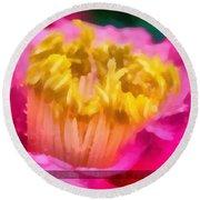 Sample-camellia Round Beach Towel