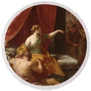 Samson And Delilah Round Beach Towel