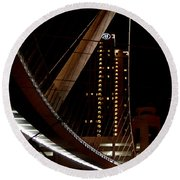 San Diego Lights At Night Round Beach Towel