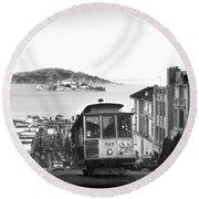 San Francisco Cable Car Round Beach Towel
