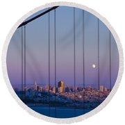 San Francisco Moon Round Beach Towel