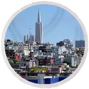 San Francisco Panorama Round Beach Towel