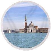 San Giorgio Maggiore Round Beach Towel by Joana Kruse