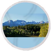 San Juans Colorado Round Beach Towel