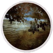 Sanctuary By The River Round Beach Towel
