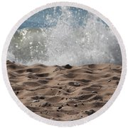 Sand And Surf Round Beach Towel
