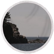 Sand Beach Cove Round Beach Towel