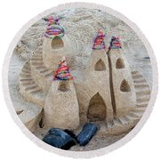 Sand Castle Round Beach Towel