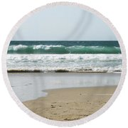 Sand City Rolling Waves Round Beach Towel